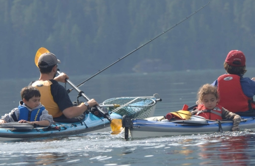 kayaking with family