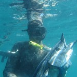 spearfishing with diving knife