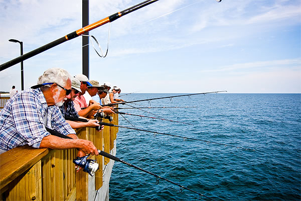 Fishing for food taste coupled with thrill fishing sites for Pier fishing tips
