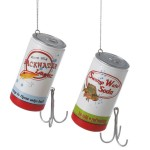 soda and beer can and fishing lures