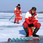 Don't Be Alone on ice fishing